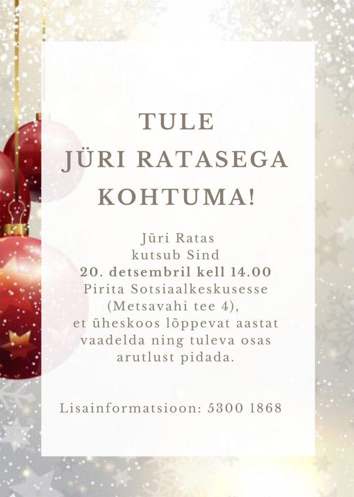Aastalõpu kohtumine Eesti Vabariigi peaminister Jüri Ratasega