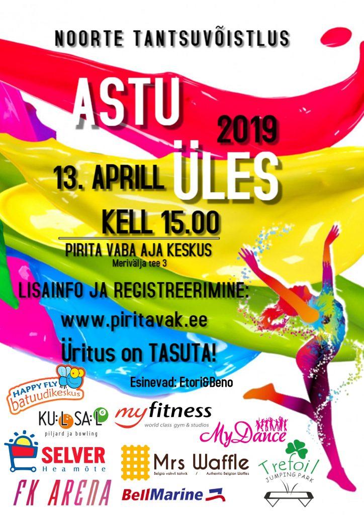 """Laste ja noorte tantsuvõistlus """"ASTU ÜLES 2019"""""""