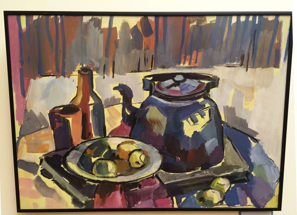"""Irmeli Vaher-Jaansoni temperamaalide näitus """"Värvid toas ja õues"""""""