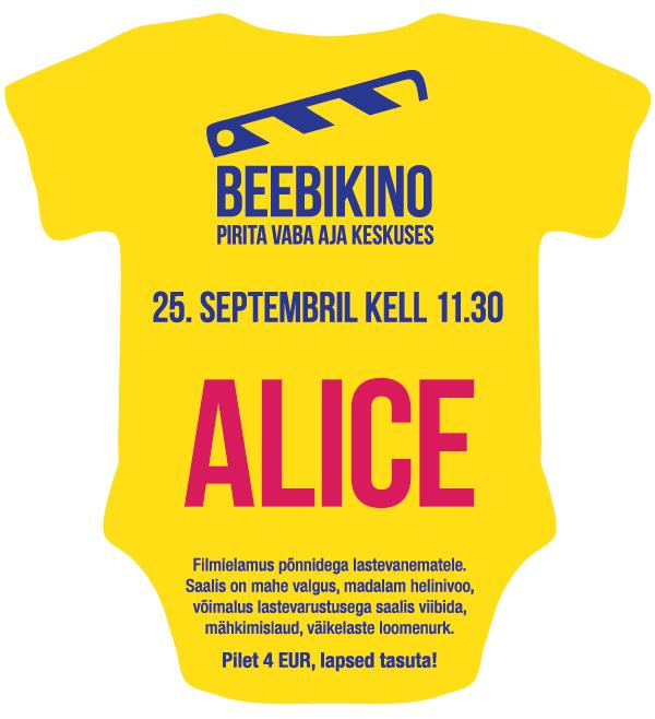 """Beebikinoekraanil mängufilm """"Alice"""""""